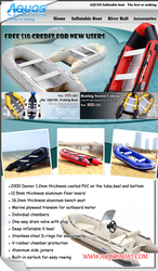 Aquos inflatable boat tender yacht dinghy kayak fishing boats